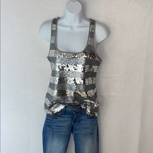 Old Navy Tops - 🌸4 for$20🌸Silver sequin tank